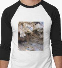 The Magnified Overhang inside a Anciant Boulder , Wow. Men's Baseball ¾ T-Shirt