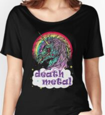 Zombie Unicorn Death Metal Women's Relaxed Fit T-Shirt
