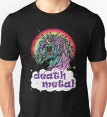 Zombie Unicorn Death Metal Slim Fit T-Shirt