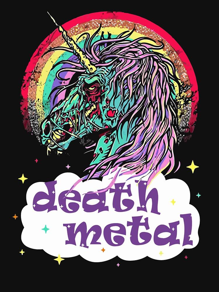 Zombie Unicorn Death Metal | Unisex T-Shirt