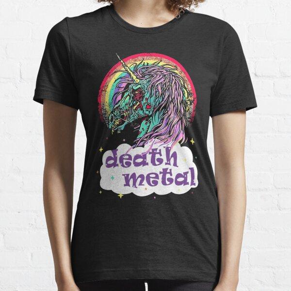 Zombie Unicorn Death Metal Essential T-Shirt