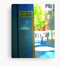 pedestrian Canvas Print