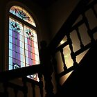 Window on stairs. by Jeanette Varcoe.