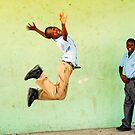 Jumping out of joy by Anthony Asael