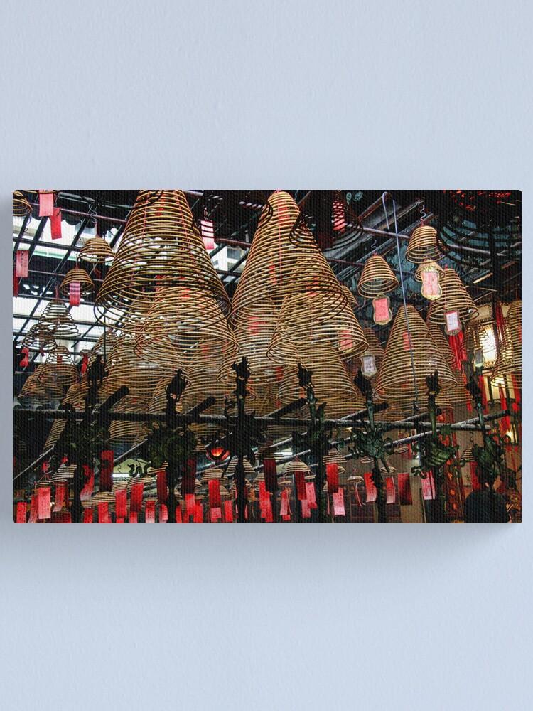 Alternate view of Hong Kong - Man Mo Temple Lanterns Canvas Print