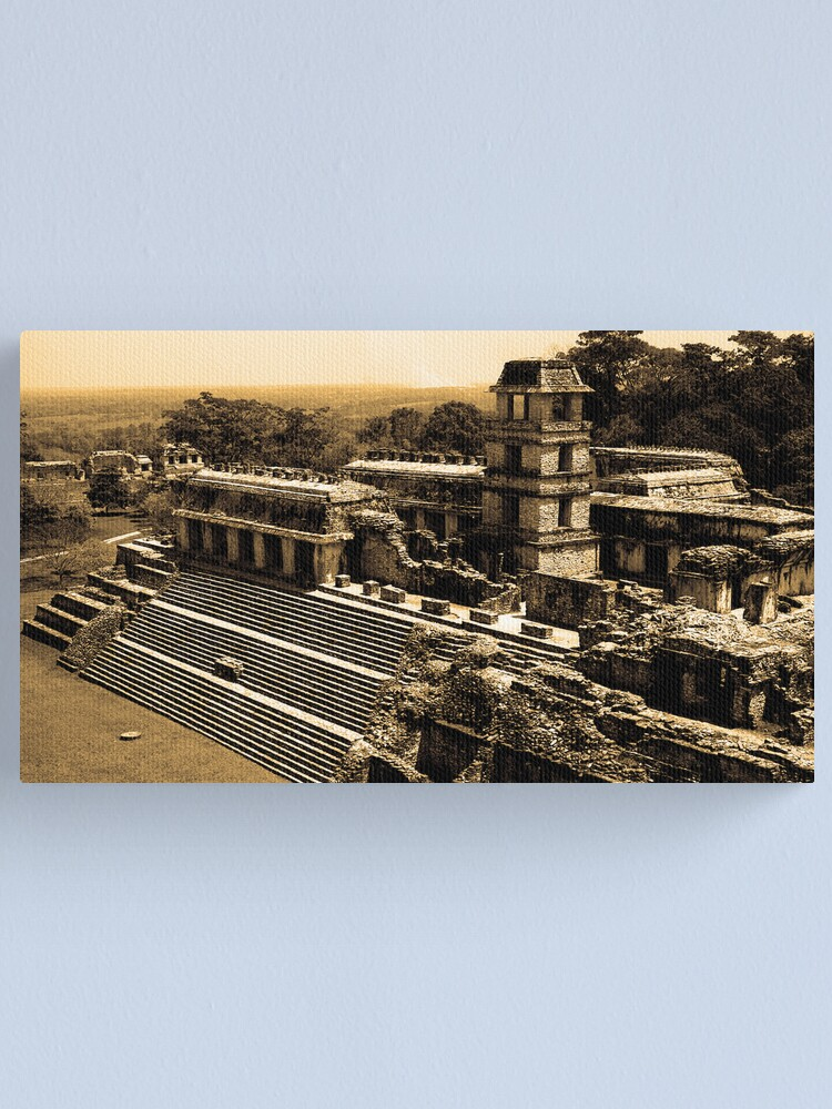 Alternate view of Mexican Temple Canvas Print
