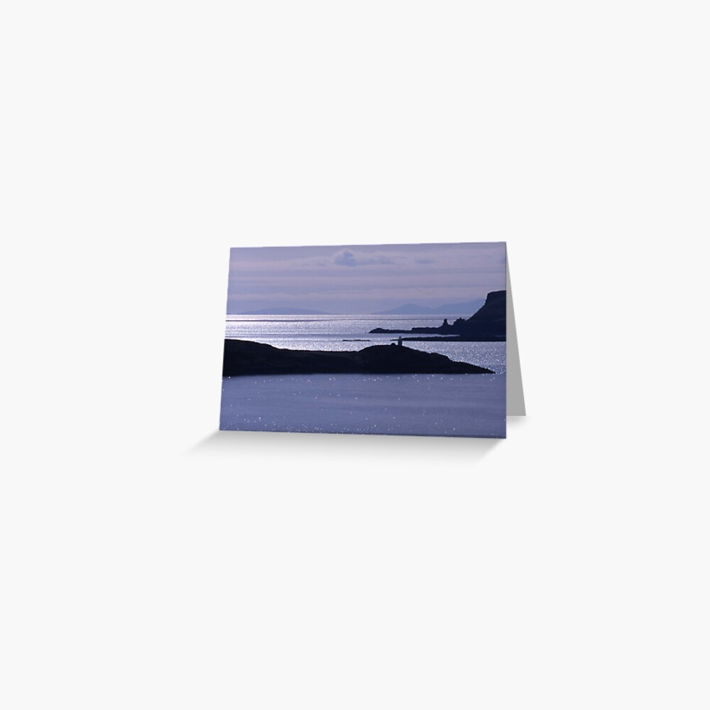Sparkling seas, Duirinish, Isle of Skye Greeting Card