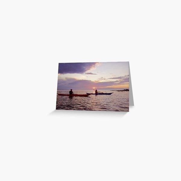 Kaykers at sunset Greeting Card