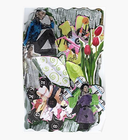 High Fashion Flowers Poster