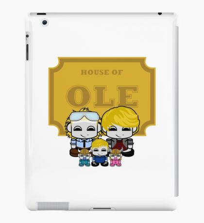 O'BABYBOT: House of Ole Family iPad Case/Skin