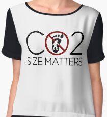 Carbon Footprint - Size Matters Women's Chiffon Top