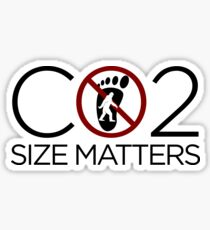 Carbon Footprint - Size Matters Sticker