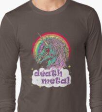 Zombie-Einhorn-Death-Metal-T-Shirt Langarmshirt