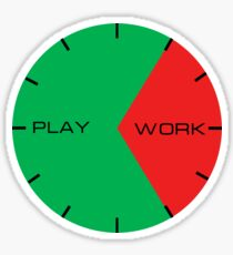 Work and Play Clock Sticker