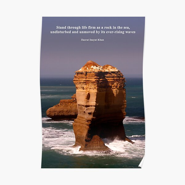 Stand Like a Rock Poster