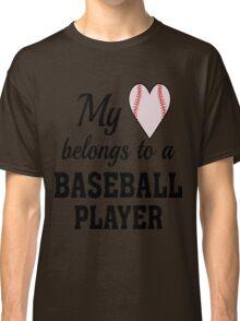 Heart Belongs Baseball T-Shirt  Classic T-Shirt