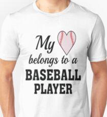 Heart Belongs Baseball T-Shirt  Unisex T-Shirt