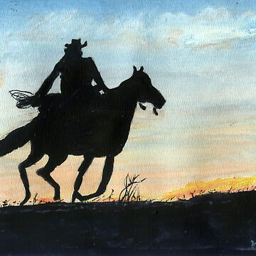 Rider At Dusk by MIKALOW