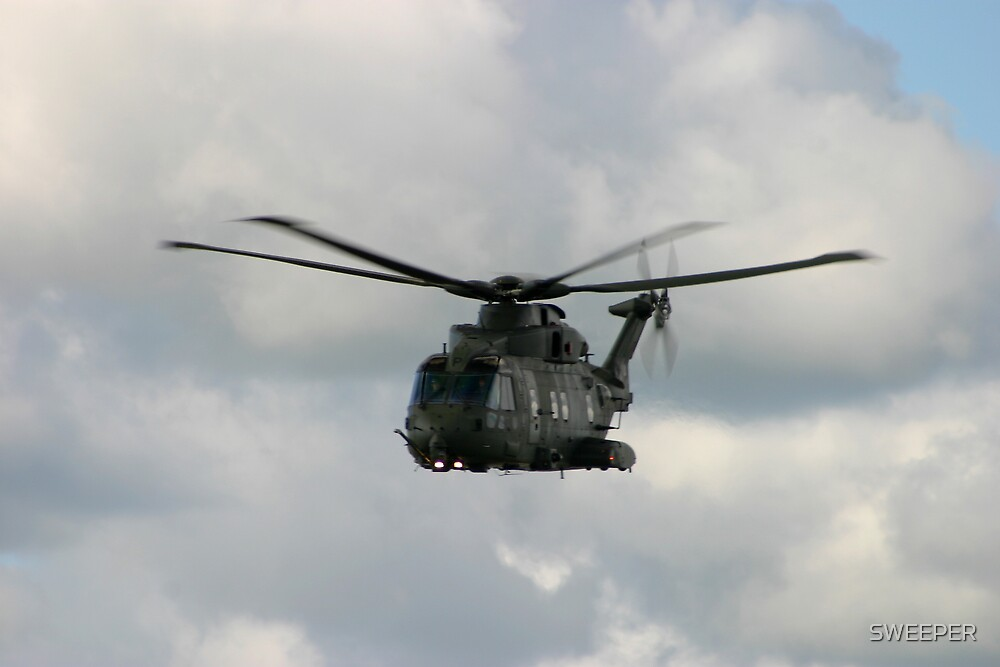 Eh 101 Merlin , soon to becombe the presidential helicopter for the USA. by SWEEPER