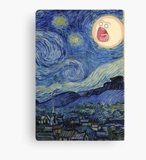 Starry Night rick and morty sun  Canvas Print