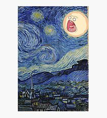 Starry Night rick and morty sun  Photographic Print