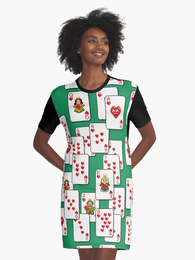 All The Hearts Graphic T-Shirt Dress Front