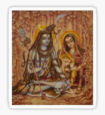 Genesha Parvati Mahadeva Sticker