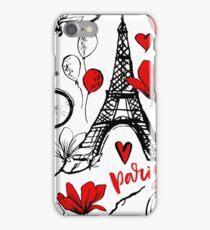 Romantic travel in Paris. iPhone Case/Skin