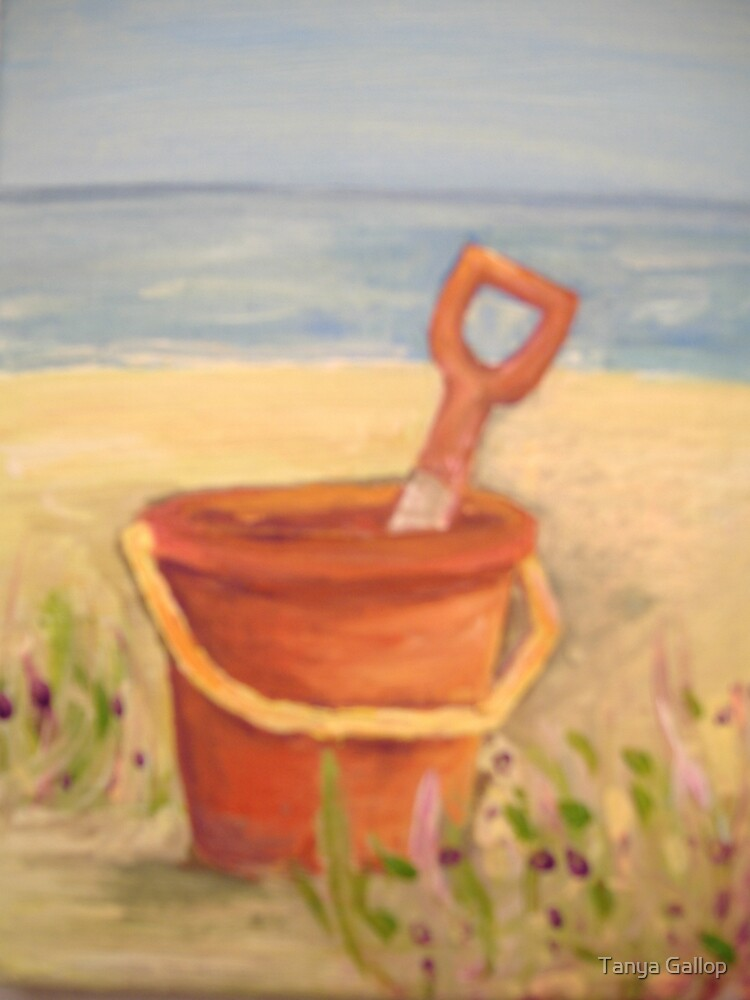 red bucket  by Tanya Gallop