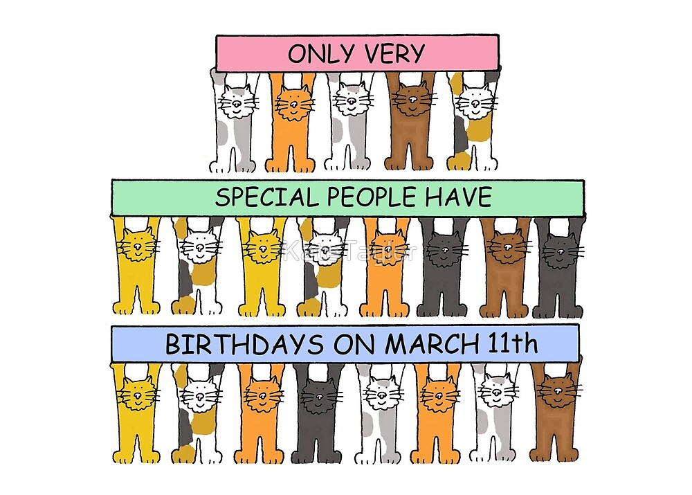 March 11th Birthday Cats. by KateTaylor