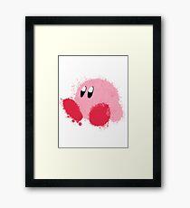 Kirby Splatter ~ ☆ Framed Print