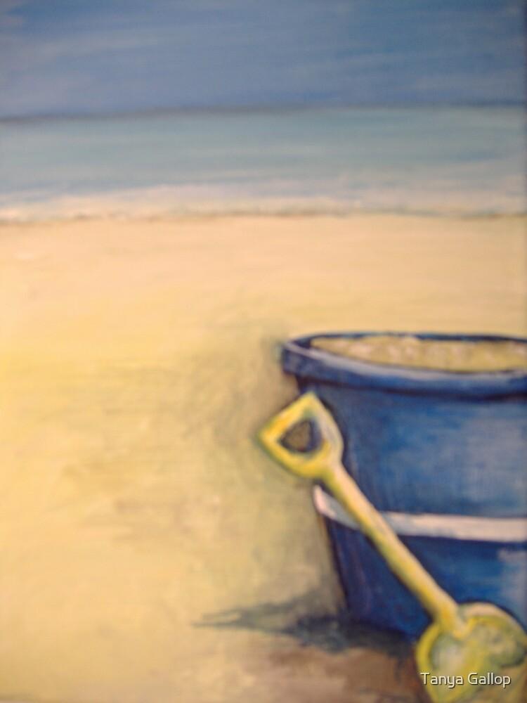 blue bucket by Tanya Gallop