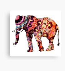 Elephant mandala zen energy Canvas Print