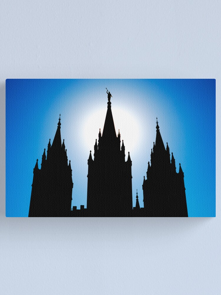 Alternate view of Salt Lake Silhouette Canvas Print