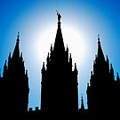 Salt Lake Silhouette by J. D. Adsit