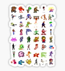 8-Bit Heroes Sticker