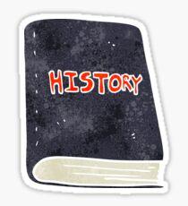 retro cartoon history book Sticker