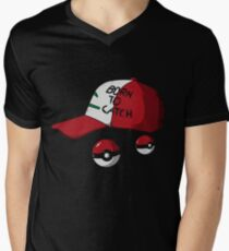 Catch Picture Mens V-Neck T-Shirt
