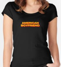 Kevin Abstract American Boyfriend Shirt Merch Women's Fitted Scoop T-Shirt