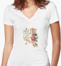 thrive flawer Women's Fitted V-Neck T-Shirt
