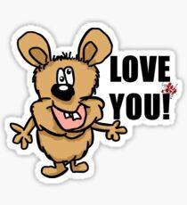 Love you! Sticker