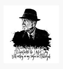 Leonard Cohen Photographic Print