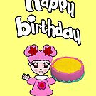 Candy Rainbow birthday's Card  by CANDY RAINBOW ET COMPAGNIE