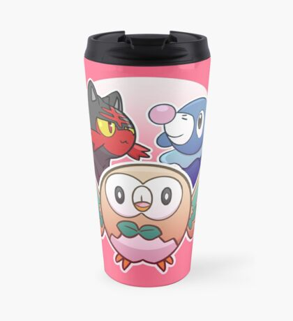 Rowlet, Litten, and Popplio Travel Mug