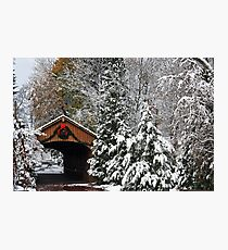 Christmas Bridge Photographic Print