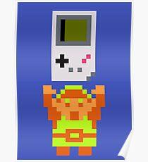 Link + Game Boy Poster