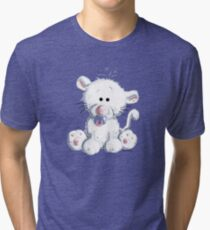 Baby Cat With Pacifier Tri-blend T-Shirt