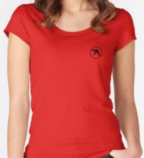 aphex twin logo Women's Fitted Scoop T-Shirt
