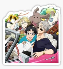 Yuri on ice road trip! Sticker