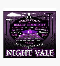 Nightvale Desert Community Photographic Print